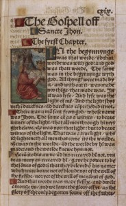 Page from Tyndale New Testament