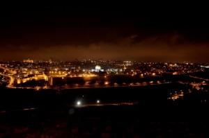 Jerusalem from Mount of Olives at night, tb031505530