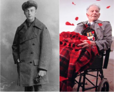 Henry Allingham, in 1916, and Harry Patch - both eyewitnesses of the Great War