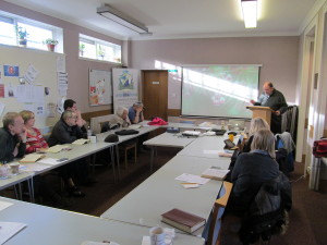 Students in Aberdeen during one of our Study Weekends